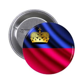 Liechtenstein waving flag pinback button