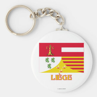 Liège Flag with Name (French) Key Ring