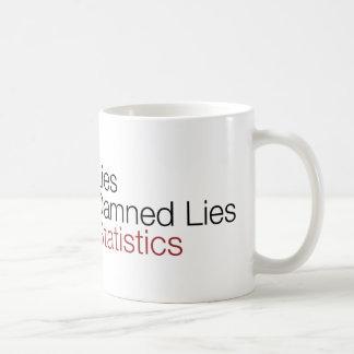 Lies damned lies statistics coffee mug