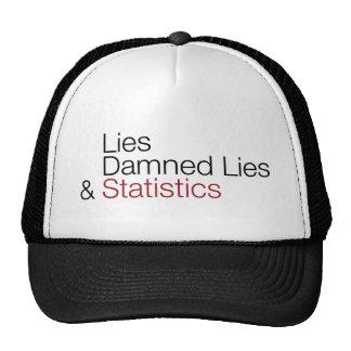 Lies, damned lies, & statistics mesh hat