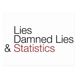 Lies, damned lies, & statistics postcard