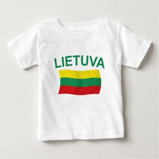 Lietuva (Lithuania) Green Ltrs Baby T-Shirt