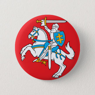 Lietuvos Valstybes Veliava, Vytis, Lithuania Flag 6 Cm Round Badge