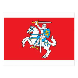 Lietuvos Valstybes Veliava, Vytis, Lithuania Flag Postcard