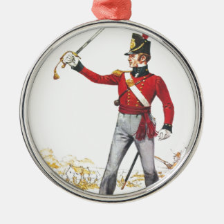 Lieutenant 1815, Royal Regiment of Foot Silver-Colored Round Decoration