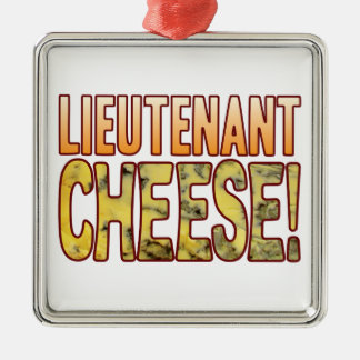 Lieutenant Blue Cheese Silver-Colored Square Decoration