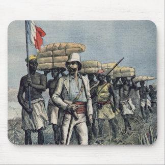 Lieutenant Mizon  on his 1892 Mission Mouse Mat