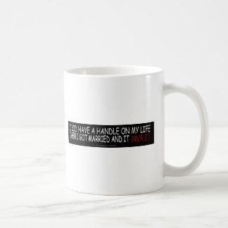 LIFE ALWAYS ENDS/HANDLE BROKE/GENE POOL COFFEE MUGS