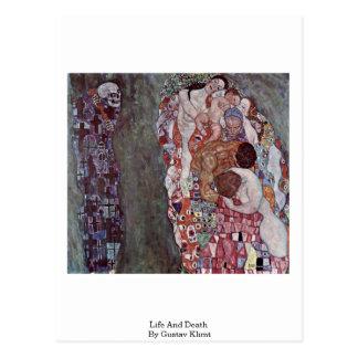 Life And Death By Gustav Klimt Postcard