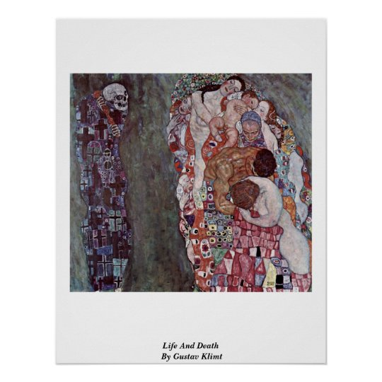 Life And Death By Gustav Klimt Poster