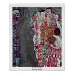 Life And Death By Klimt Gustav Poster