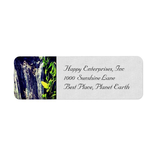 Life and Death Return Address Label