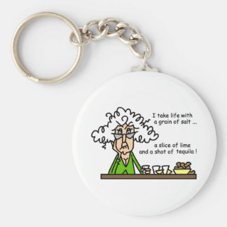 Life and Tequila Humor Key Ring