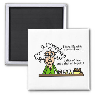 Life and Tequila Humour Refrigerator Magnet