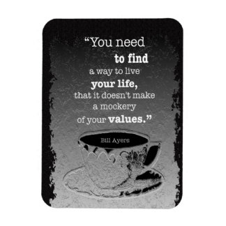 Life and Values Rectangular Photo Magnet