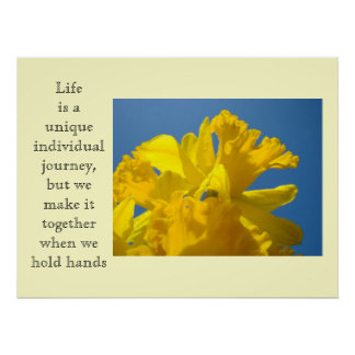 Life art Print Individual Journey Together