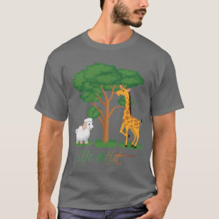 219f1b2f Life Artist: Funny Sheep Meme, w/ Giraffe, Acacia T-Shirt