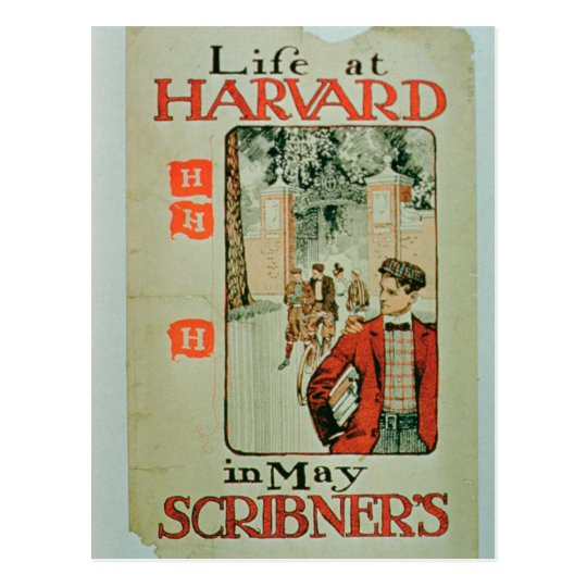'Life at Harvard', poster advertising the May edit