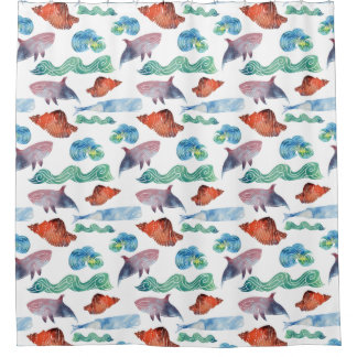 Life at Sea Shower Curtain