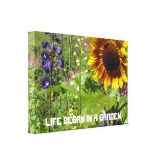 Life Began In A Garden Gallery Wrap Canvas