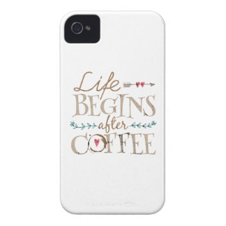 Life Begins After Coffee iPhone 4 Case-Mate Case