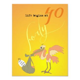 Life Begins at 40 Invitation - Sunrise