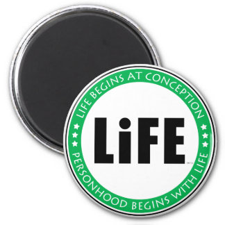 Life Begins At Conception 6 Cm Round Magnet