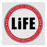 Life Begins At Conception Poster