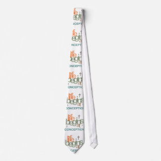Life Begins At Conception Tie