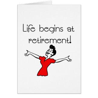 Life Begins at Retirement! Fun Gifts Greeting Card