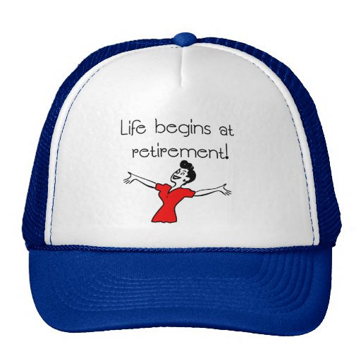 Life Begins at Retirement! Fun Gifts Hats