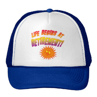 Life Begins at Retirement! Mesh Hat