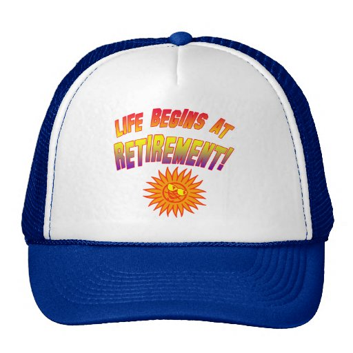 Life Begins at Retirement! Mesh Hat
