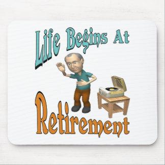 Life Begins At Retirement Mousepad