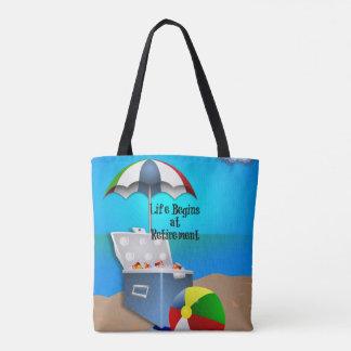 Life Begins at Retirement Tote Bag