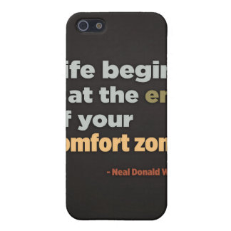 Life begins at the end of your comfort zone cover for iPhone 5/5S