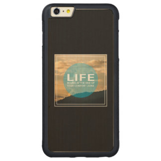 Life Begins Carved® Maple iPhone 6 Plus Bumper Case