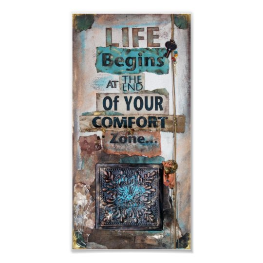 Life Begins Quote Mixed Media   Poster
