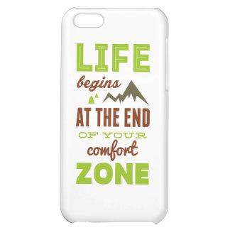 Life begins Vintage Inspirational Design Cover For iPhone 5C