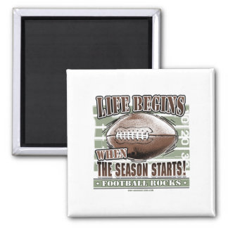 Life Begins When The Season Starts! Magnet