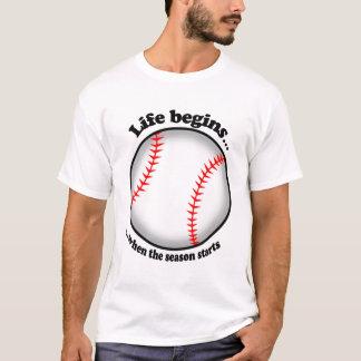 Life begins with baseball T-Shirt