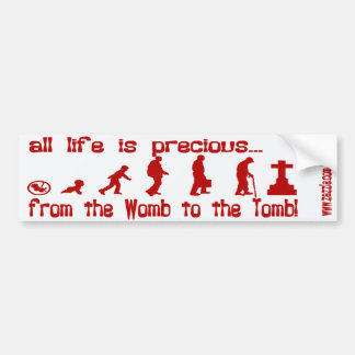 LIFE bumper stickers BY EKLEKTIX