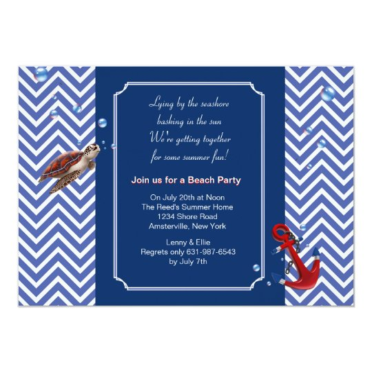 Life by the Sea Invitation
