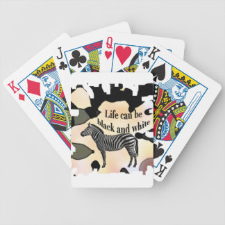 Life can be black and white bicycle playing cards