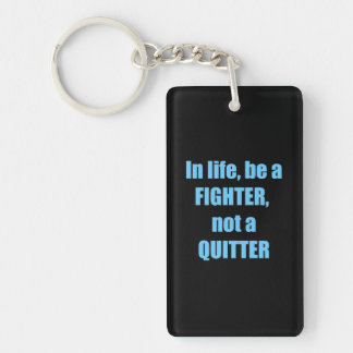 LIFE CHALLANGES FIGHTER wisdom personality champ Single-Sided Rectangular Acrylic Key Ring