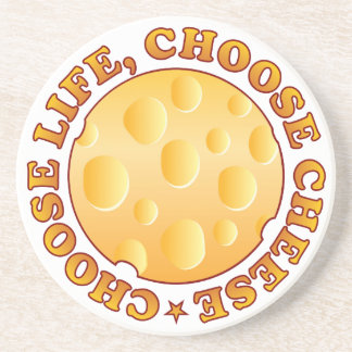 Life Cheese Brown Coasters