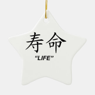 """Life"" Chinese symbol gifts and products Christmas Ornament"