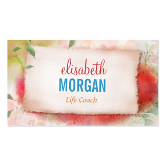 Life Coach  - Artistry Watercolor Floral Pack Of Standard Business Cards