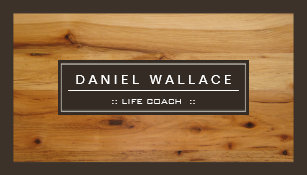 Wood grain business cards business card printing zazzle uk life coach classy wood grain look business card reheart Gallery