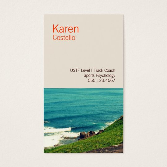 Life Coach Colourful Ocean View Business Card